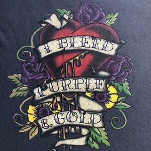 LSU I Bleed Purple & Gold T-shirt Size 2X